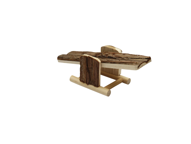 Hračka Huhubamboo pro hlodavce dřevěná houpačka s kůrou 228x7,5cm