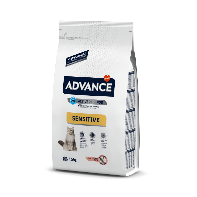 ADVANCE CAT Adult losos a rýže Sensitive 10kg