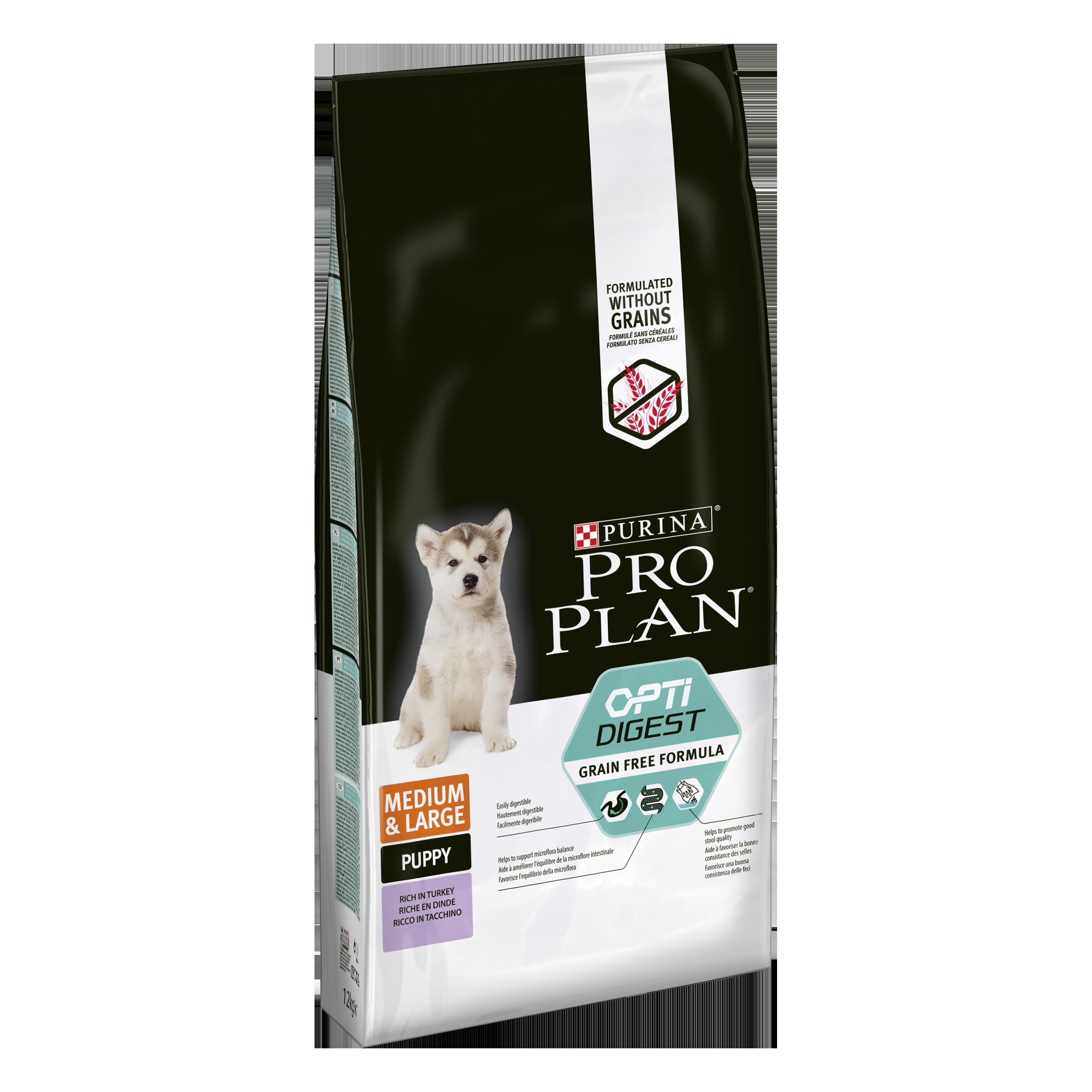 Purina Pro Plan Medium&Large Puppy Optidigest Grain Free krůta 12kg