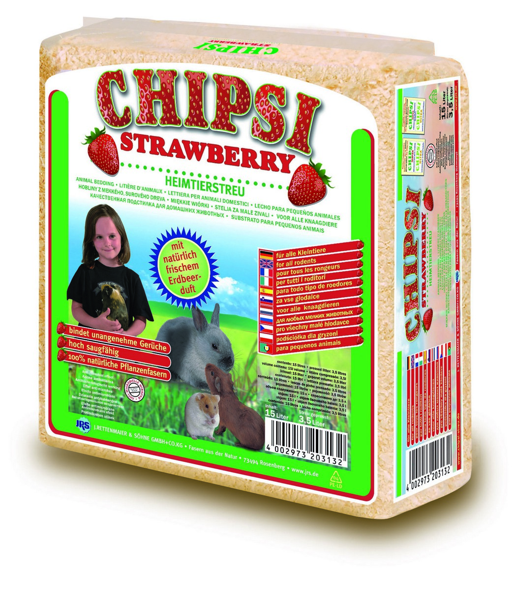 Cat's Best Chipsy Strawberry podestýlka 15l