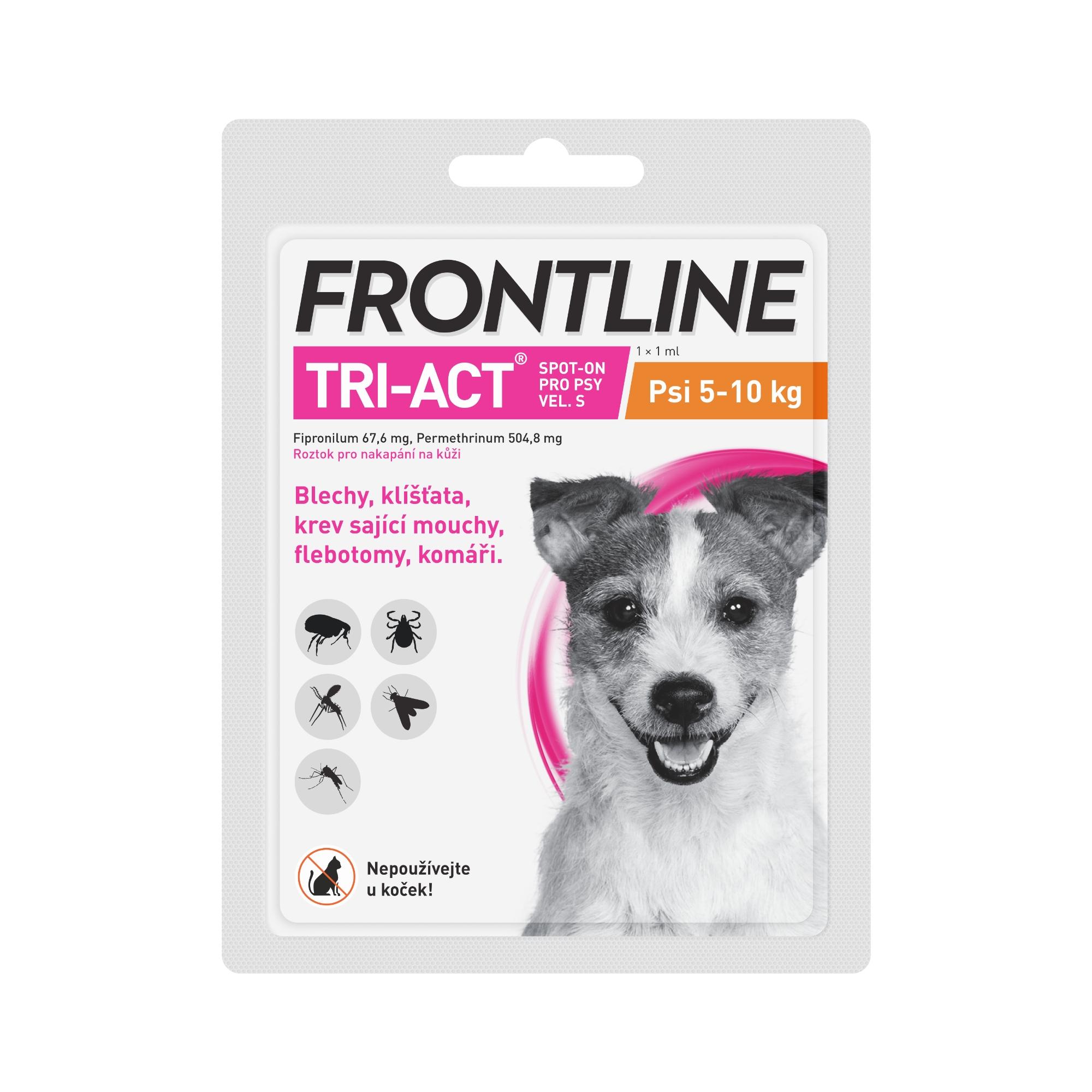 Frontline antiparazitikum TRI-ACT Spot-on Dog 1ml S