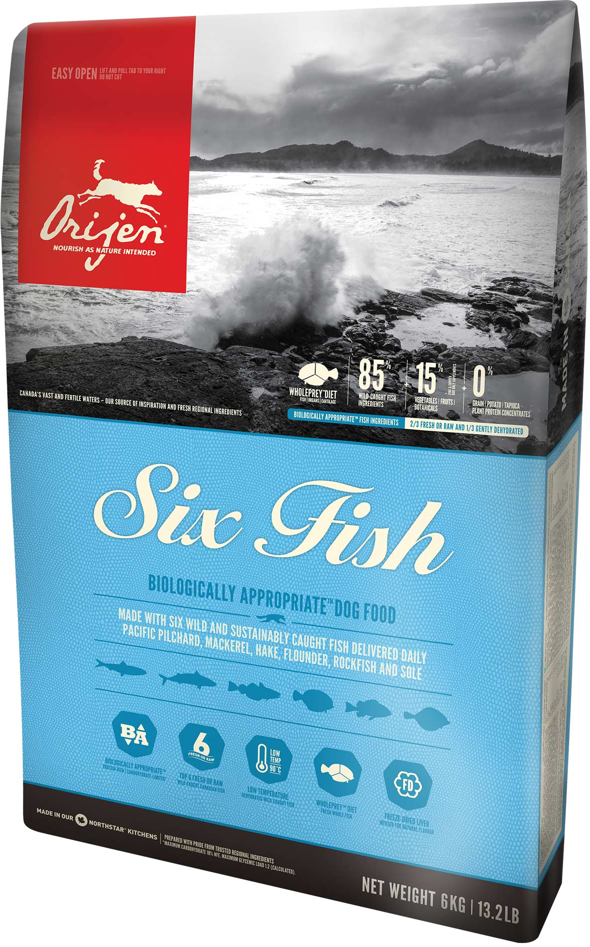Orijen Dog Adult 6 Fish 6kg