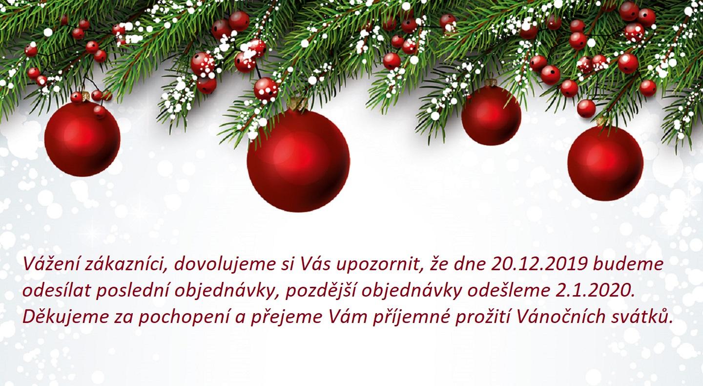 Provoz e-shopu o Vánočních svátcích