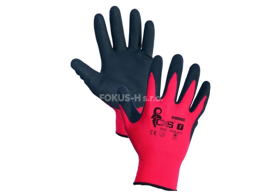 Rukavice ALVAROS, máčené prsty a dlaň