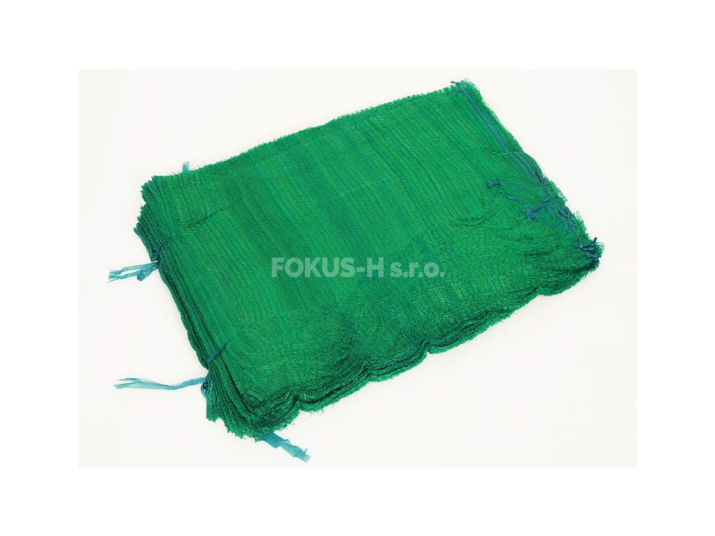 Rašlový pytel na 10 kg - zelený