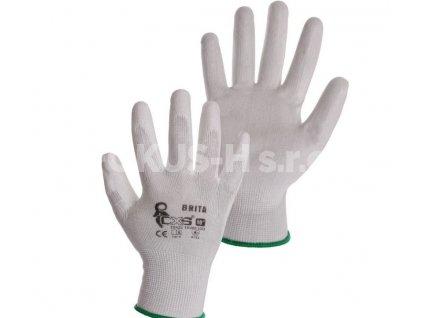 Rukavice BRITA, máčené prsty a dlaň
