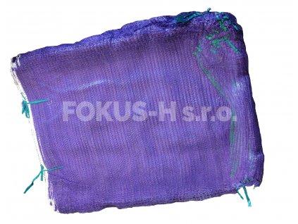Rašlový pytel na 25 kg - fialový
