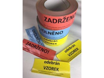 Detekovatelná lepící páska 50mm s potiskem