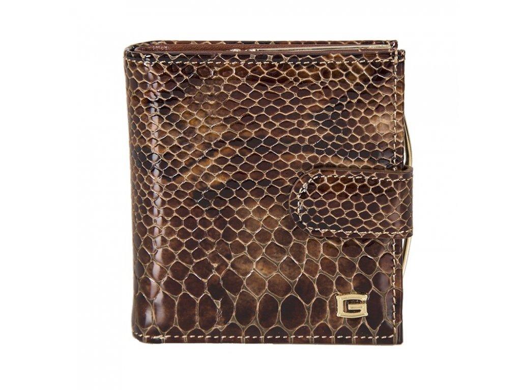 dámská hnědá kožená peněženka 6830/MUL, GIUDI