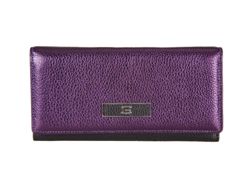 Dámská fialová kožená peněženka italské značky GIUDI