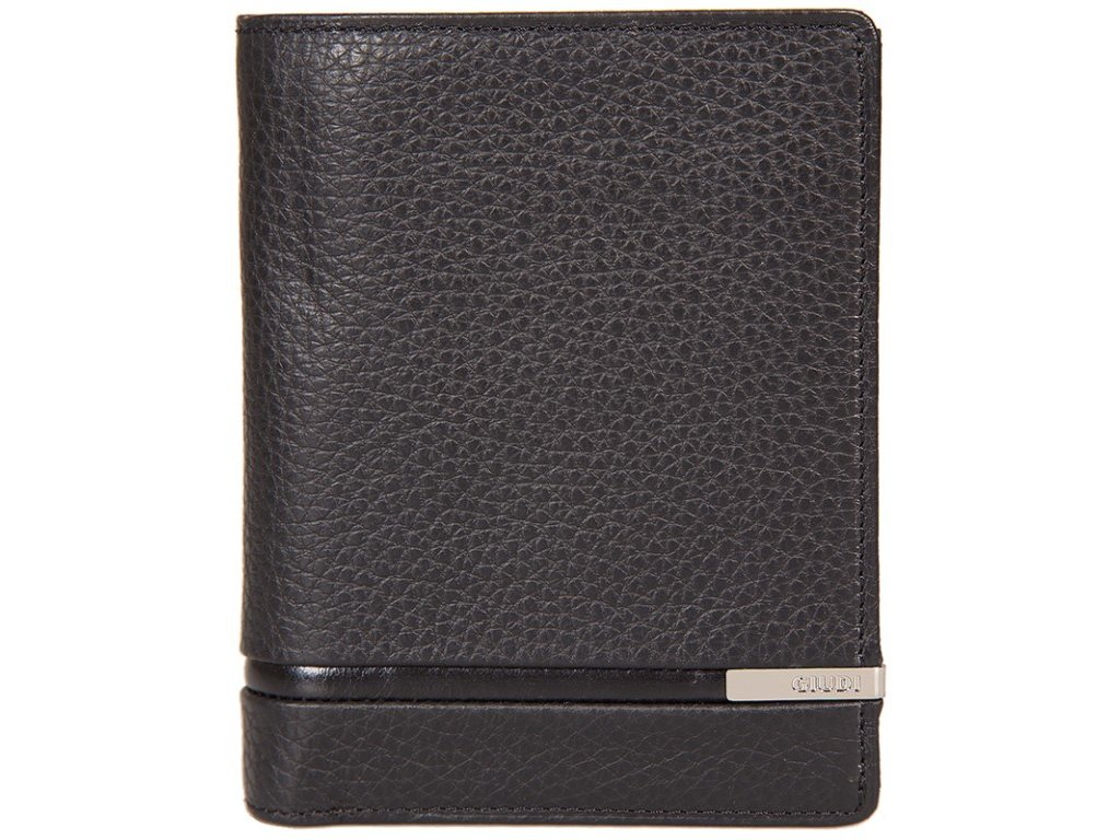 pánská černá kožená peněženka 7364, GIUDI