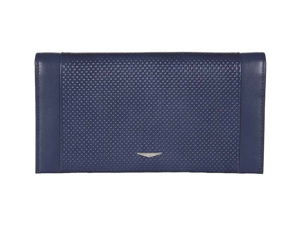 pánská modrá kožená peněženka - dokladovka 7435, GIUDI