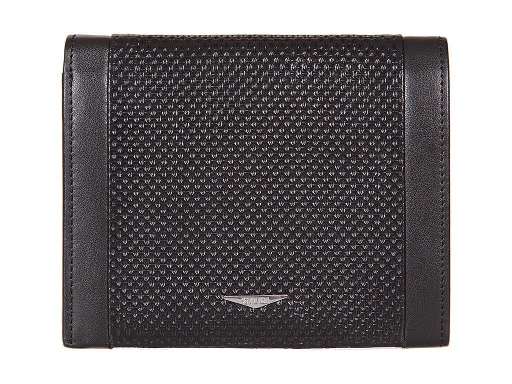 pánská černá kožená peněženka 7434, GIUDI