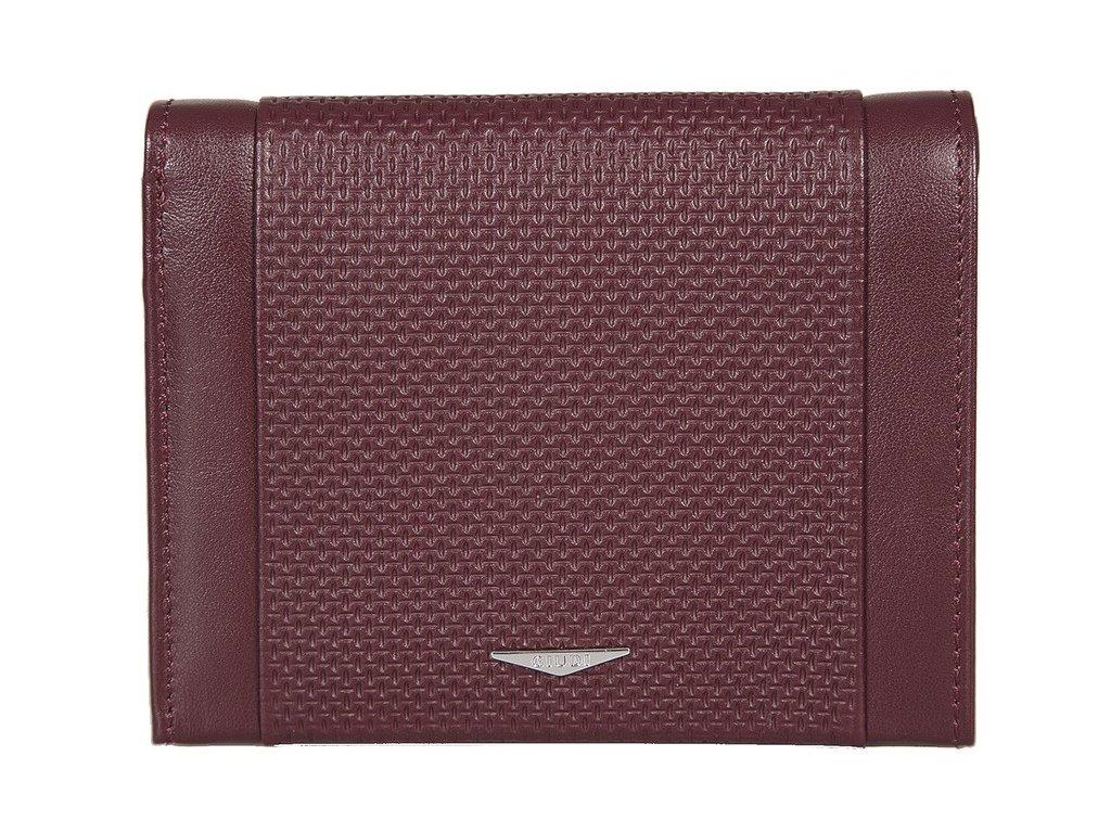 pánská červená kožená peněženka 7434, GIUDI