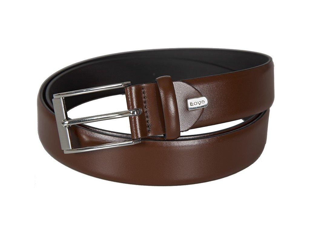 Pánský elegantní hnědý kožený pásek 1317, LLOYD