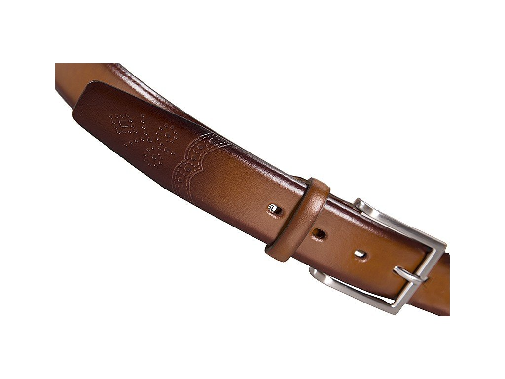 Lloyd pánský hnědý - koňak kožený pásek 1080, Lloyd