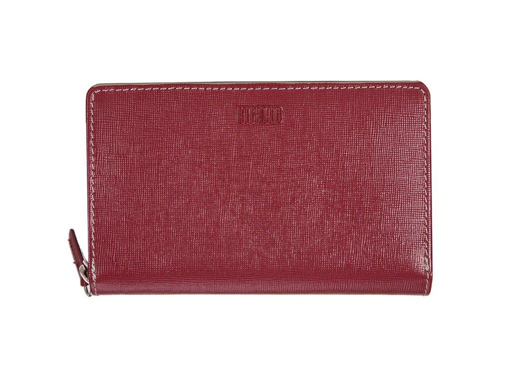 dámská červená kožená peněženka MANO 20207