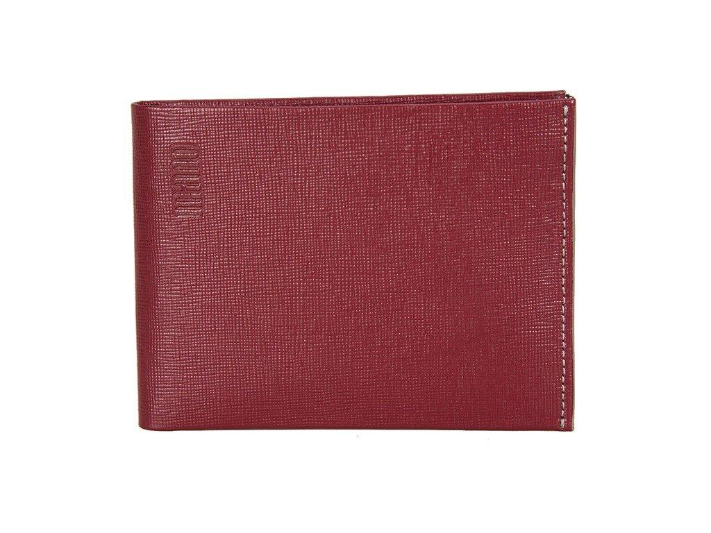 Pánská červená kožená peněženka MANO