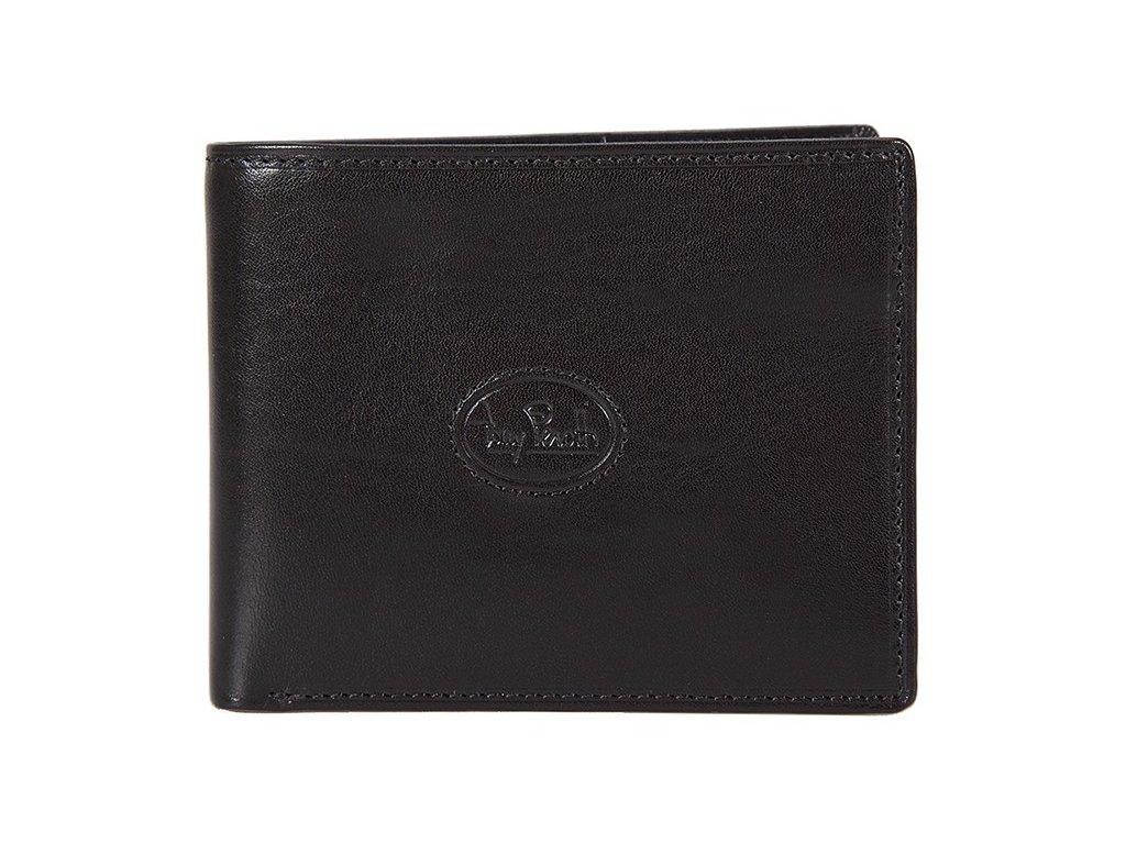 pánská černá kožená peněženka 2325/ZW, Tony Perotti