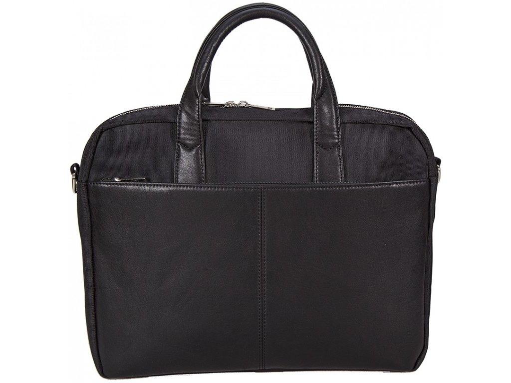 """Černá taška  z umělé kůže na 17"""" notebook 513001, d&n lederwaren"""