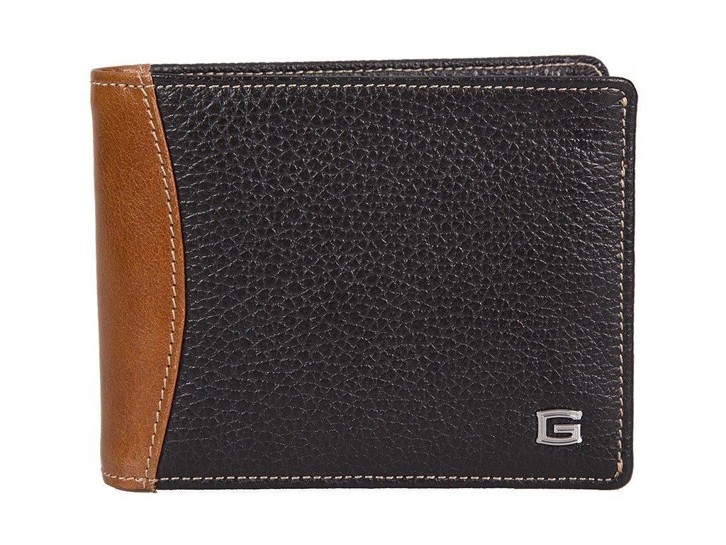 pánská černohnědá kožená peněženka 6393, GIUDI
