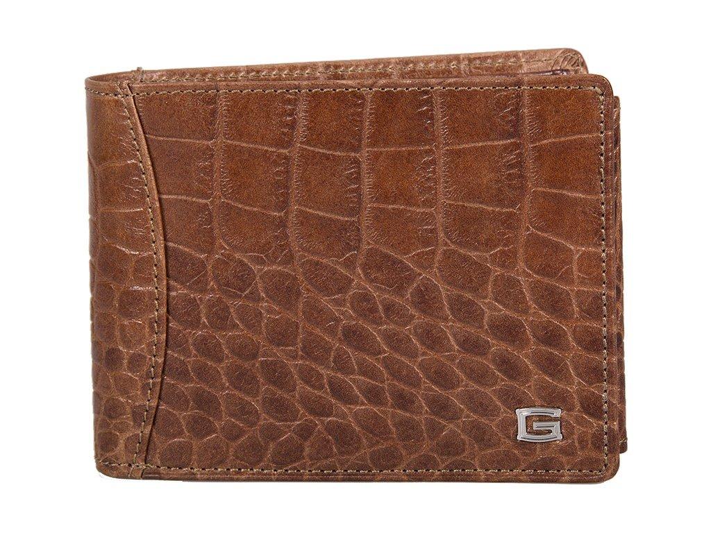 Pánská kožená peněženka GIUDI Beau - kaštanově hnědá