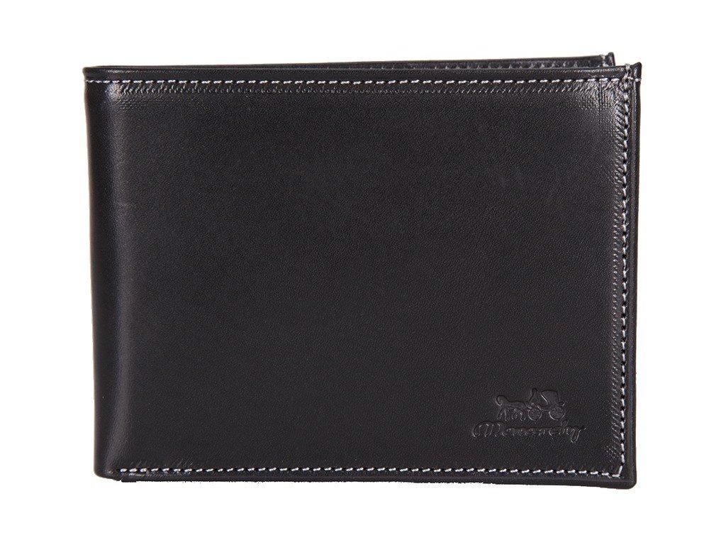Pánská kožená peněženka MONARCHY Karlos - černá