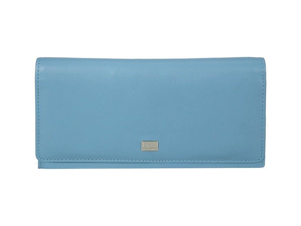 Dámská kožená peněženka MANO Gertruda - světle modrá