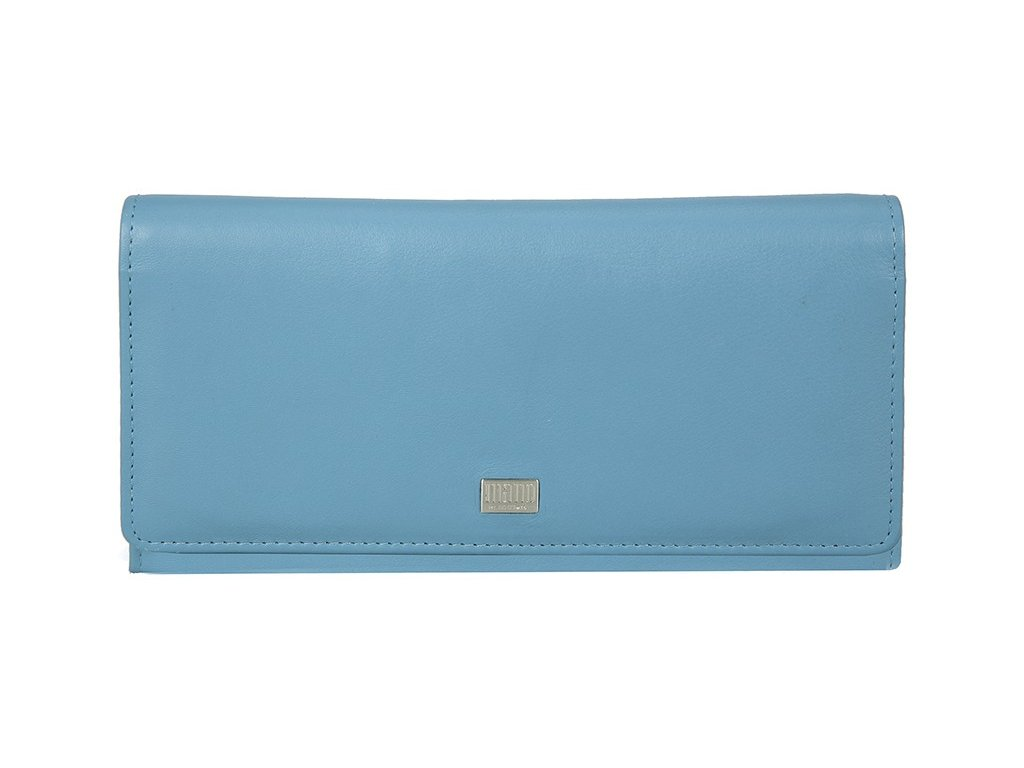 dámská světle modrá kožená peněženka MANO 20154