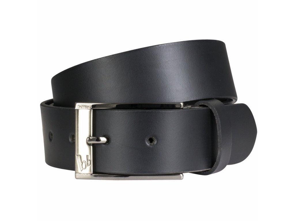 Pánský černý elegantní kožený pásek BRUNO BANANI