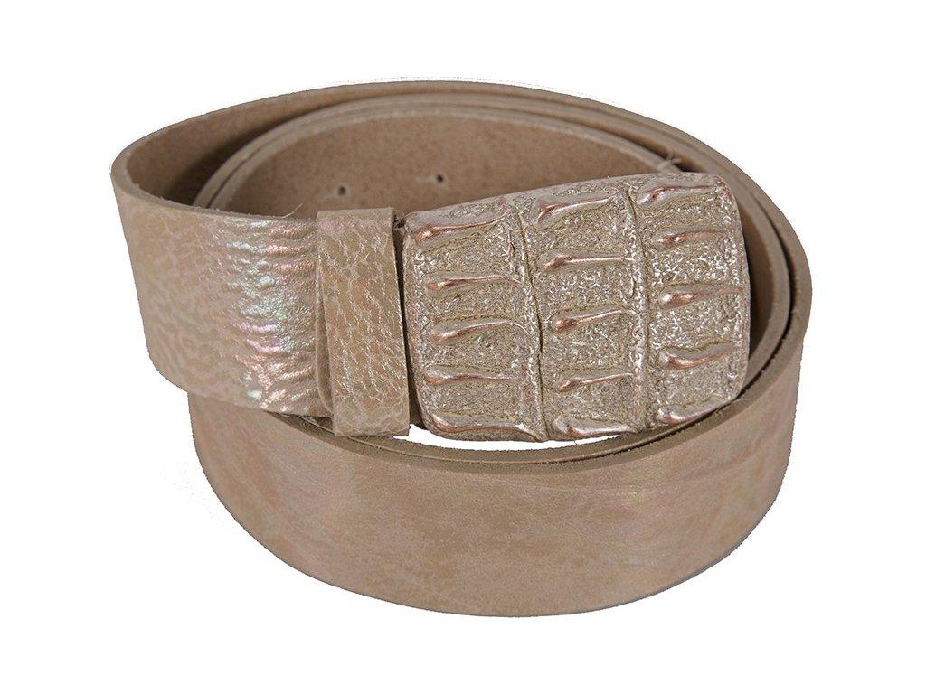 béžový kožený pásek 402561, BERND GÖTZ