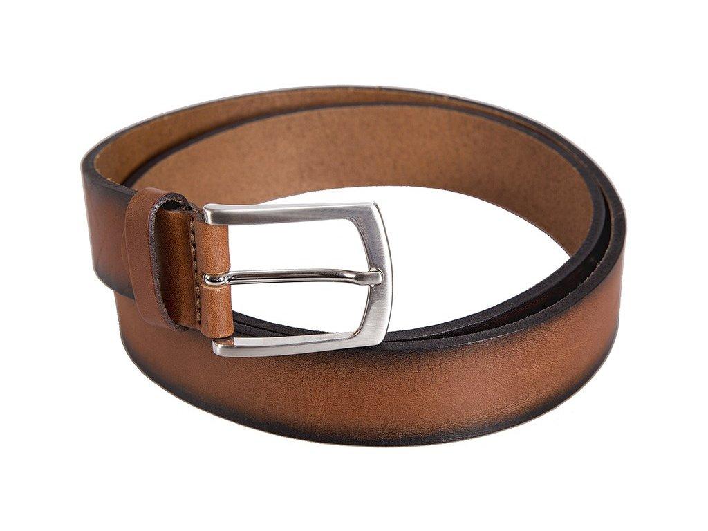 Hnědý-koňak kožený pásek BERND GÖTZ
