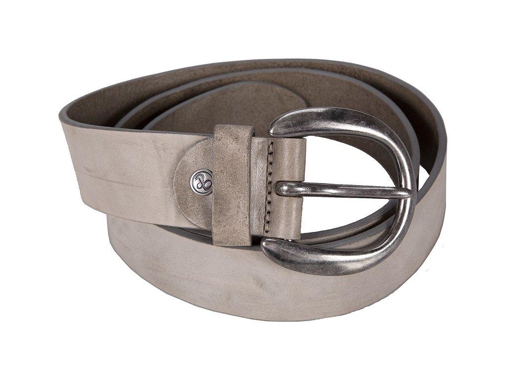 šedý kožený pásek 402392, BERND GÖTZ