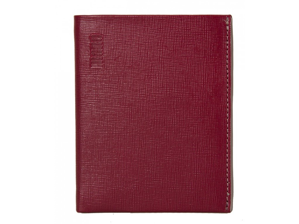 pánská červená kožená peněženka MANO 20200