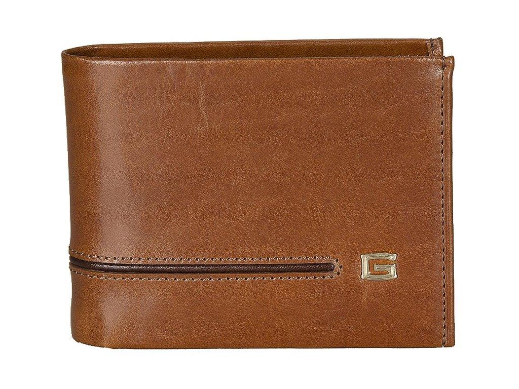 Pánská kožená peněženka GIUDI York - hnědá