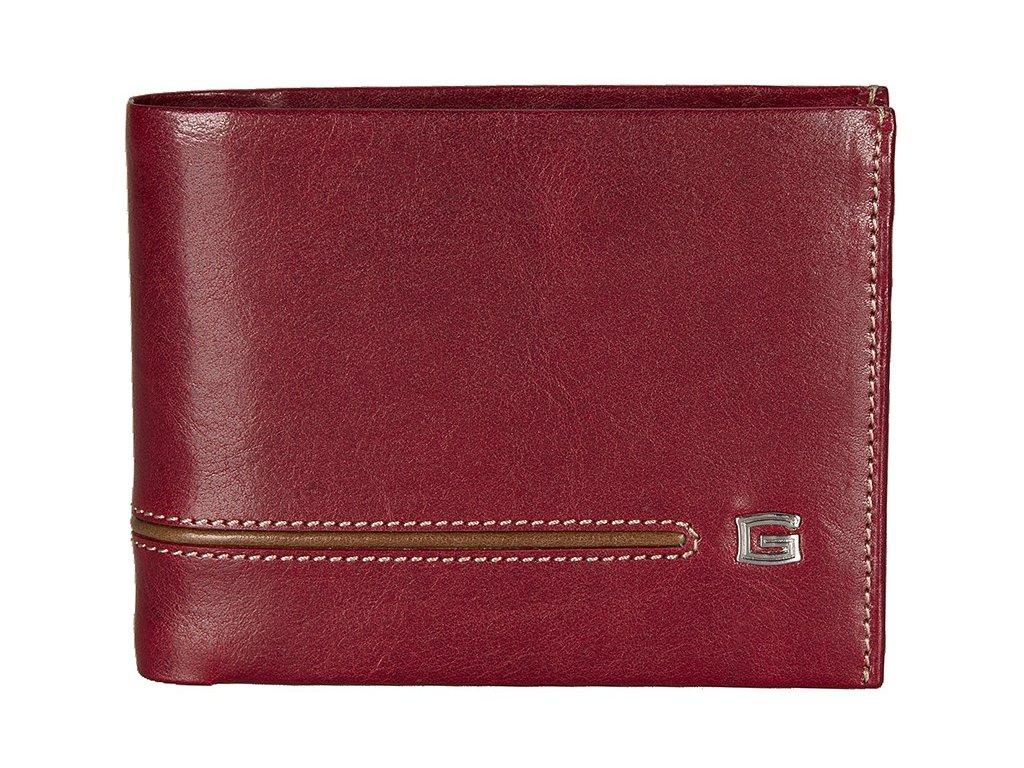 pánská červená kožená peněženka 7004, GIUDI