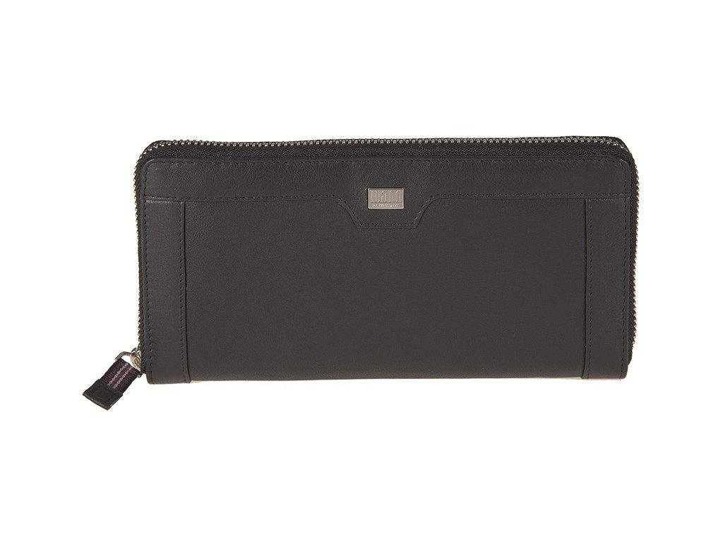 velká dámská černá kožená peněženka - penál MANO M20102