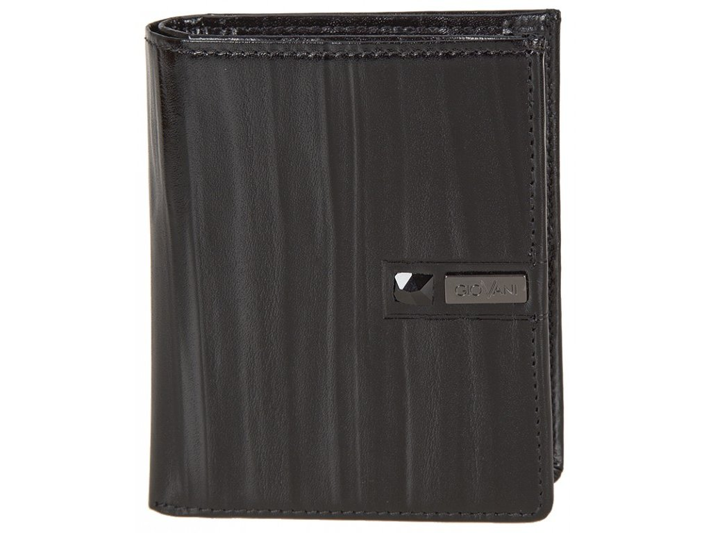 pánská černá kožená peněženka AW 100, GIOVANI