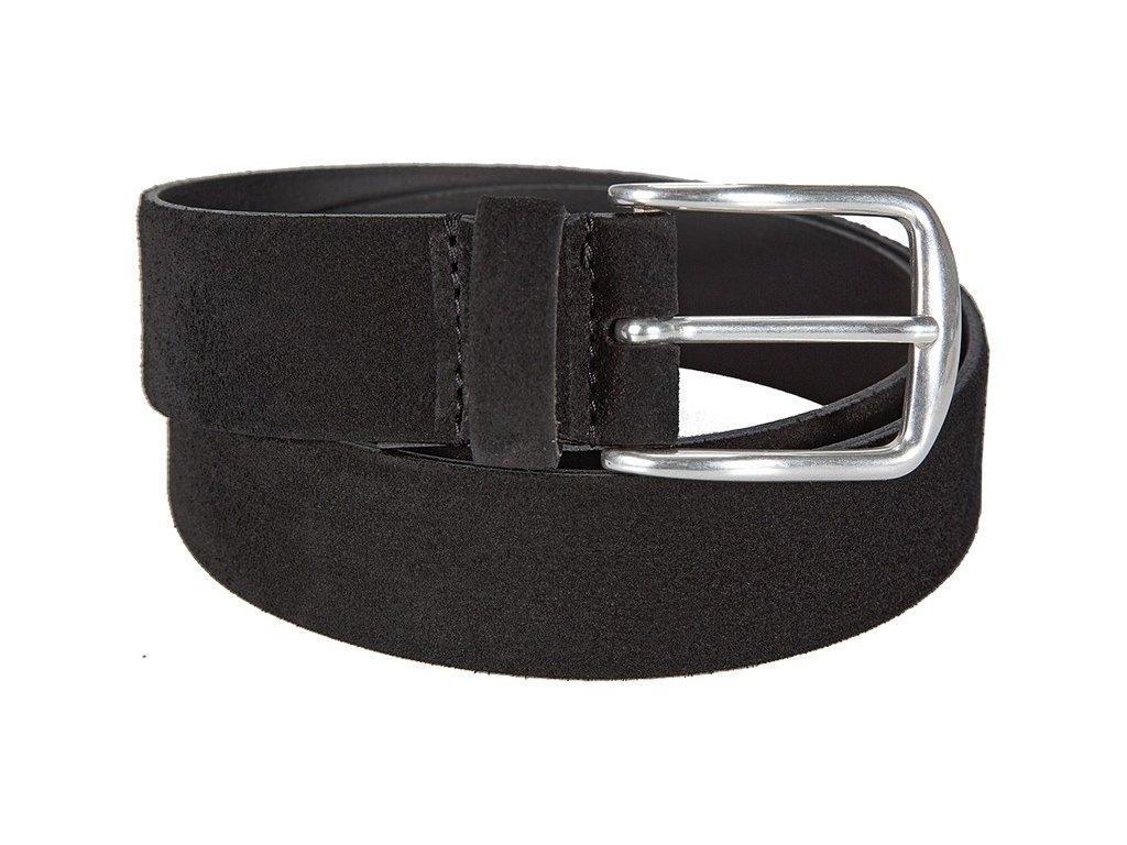 Luxusní černý velurový pásek značky BERND GÖTZ