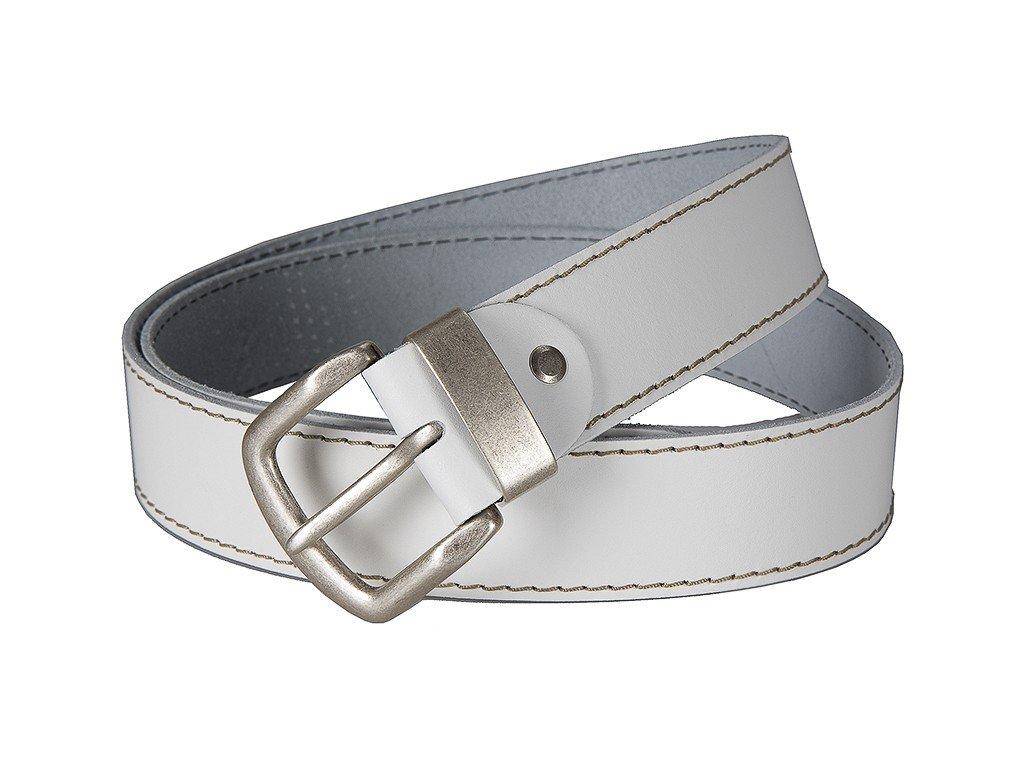 bílý kožený pásek 401560, BERND GÖTZ