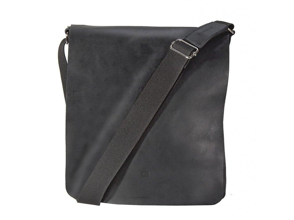 Černá kožená taška přes rameno JAZZY SMASH 71, DAAG
