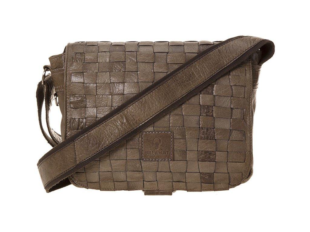 šedá kožená taška 25-0264, Bull&Hunt