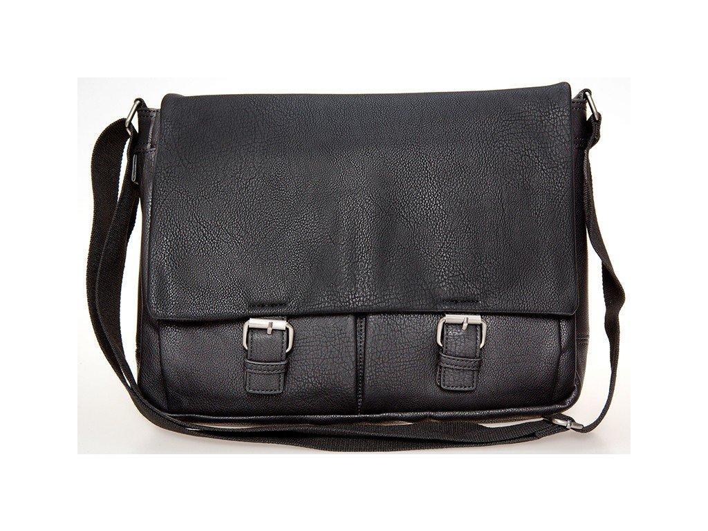 """černá taška  z umělé kůže na 17"""" notebook  521901, d&n lederwaren"""