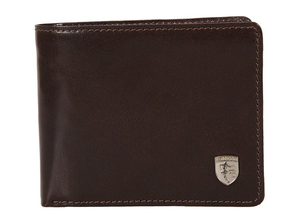pánská černá kožená peněženka M-10, Franco Bellucci