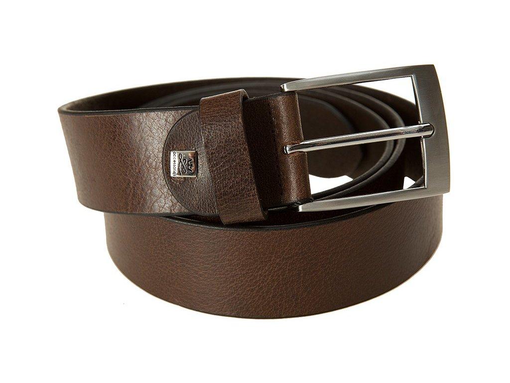 pánský hnědý kožený pásek 745, LINDENMANN