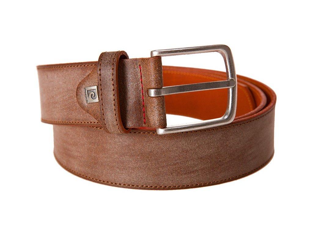 pánský béžový kožený pásek 70093, PIERRE CARDIN