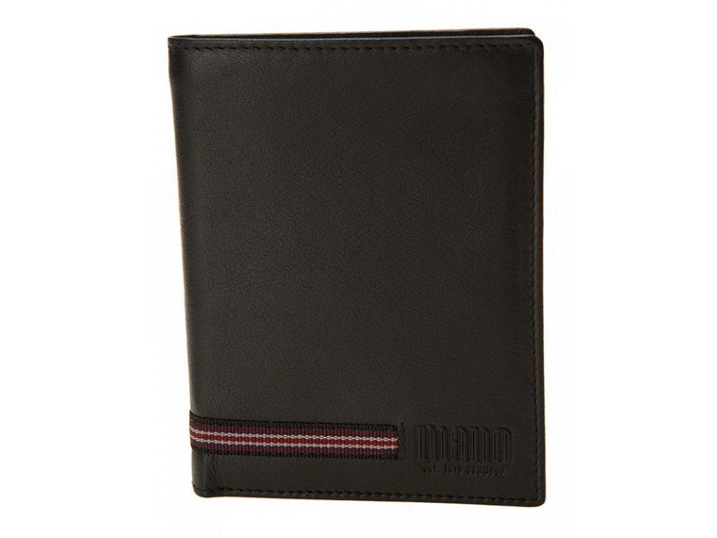 pánská černá kožená peněženka MANO Signum 19354