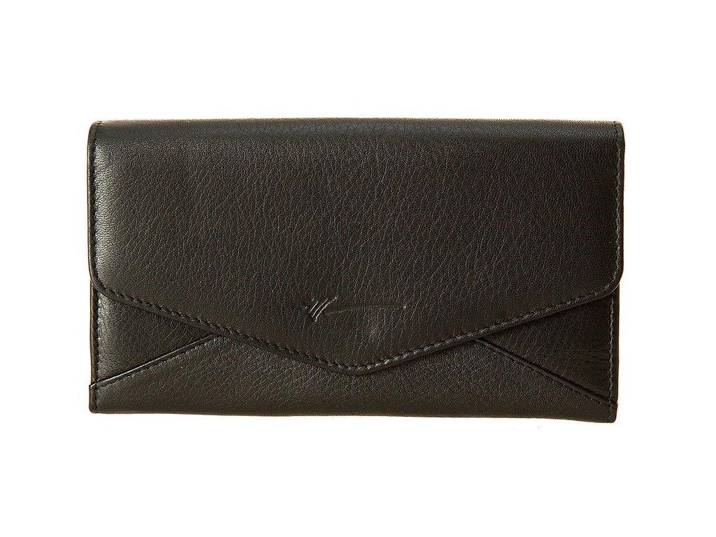 Velká dámská černá kožená peněženka značky DRAGON