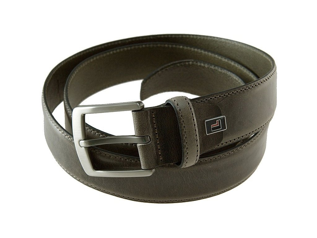 Pánský šedo-hnědý kožený pásek 0822, LLOYD
