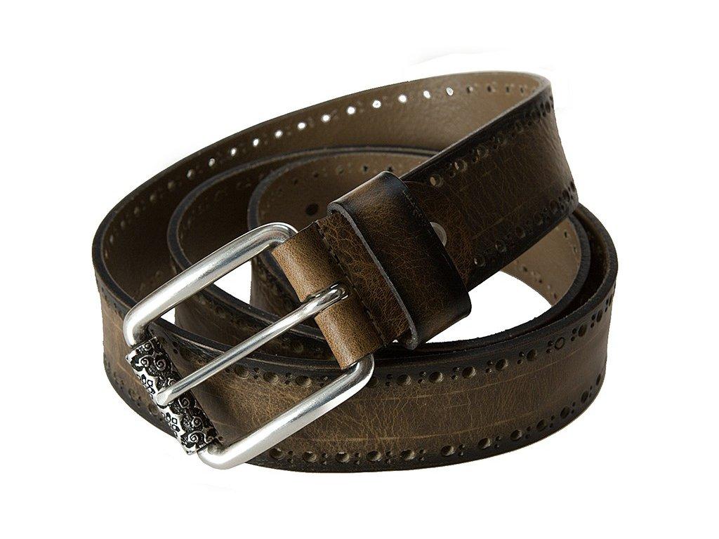 hnědý kožený pásek 402266, BERND GÖTZ